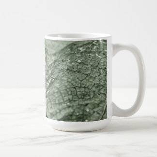 Worn green leaf 15 oz coffee mug