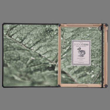 Worn green leaf iPad cases