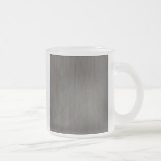 Worn Grungy Brushed Metal Frosted Glass Coffee Mug