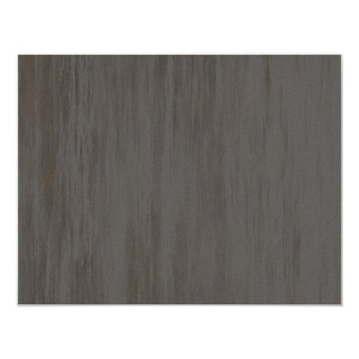 """Worn Grungy Brushed Metal 4.25"""" X 5.5"""" Invitation Card"""