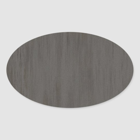 Worn Grungy Brushed Metal Oval Sticker