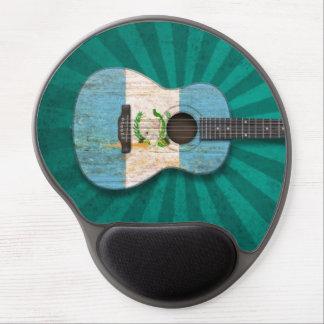 Worn Guatemalan Flag Acoustic Guitar, teal Gel Mouse Pad