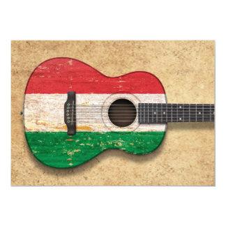 Worn Hungarian Flag Acoustic Guitar Announcement