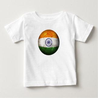 Worn Indian Flag Football Soccer Ball Tee Shirt
