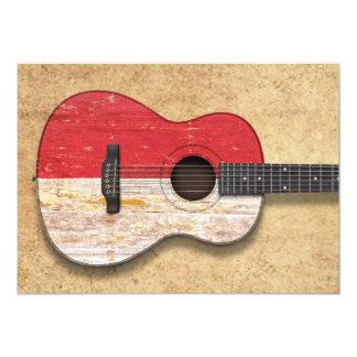 Worn Indonesian Flag Acoustic Guitar Invites