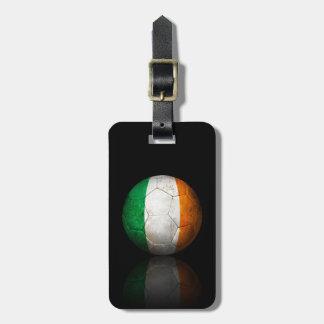 Worn Irish Flag Football Soccer Ball Travel Bag Tag