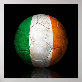 Worn Irish Flag Football Soccer Ball Print