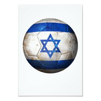 "Worn Israeli Flag Football Soccer Ball 3.5"" X 5"" Invitation Card"