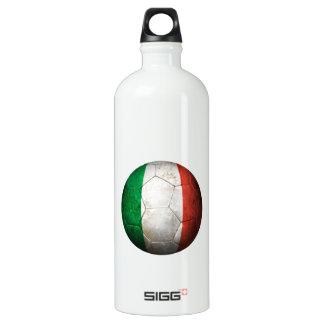 Worn Italian Flag Football Soccer Ball Aluminum Water Bottle