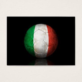 Worn Italian Flag Football Soccer Ball Business Card