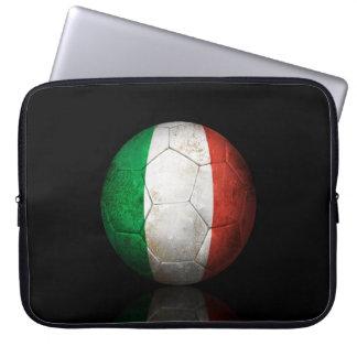 Worn Italian Flag Football Soccer Ball Computer Sleeve