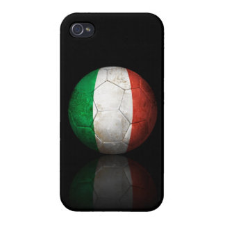Worn Italian Flag Football Soccer Ball Covers For iPhone 4