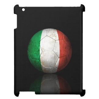 Worn Italian Flag Football Soccer Ball iPad Cover