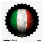 Worn Italian Flag Football Soccer Ball Wall Sticker