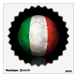 Worn Italian Flag Football Soccer Ball Room Decals