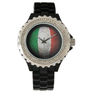 Worn Italian Flag Football Soccer Ball Watch