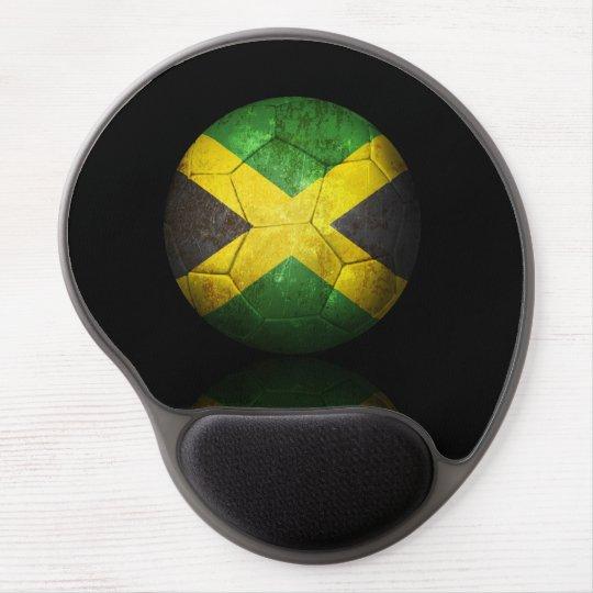 Worn Jamaican Flag Football Soccer Ball Gel Mouse Pad