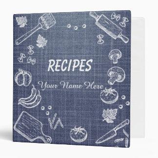 Worn Jean Kitchen utensils recipe binder book