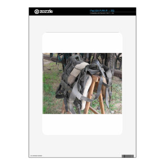 Worn leather horse bridles and bits decals for the iPad
