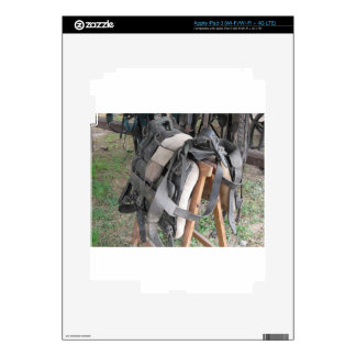 Worn leather horse bridles and bits iPad 3 skin