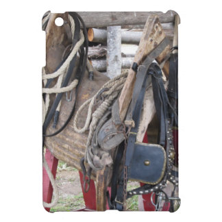 Worn leather horse bridles and bits iPad mini cases