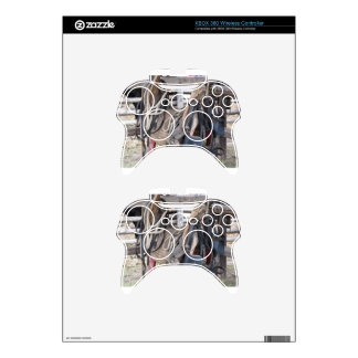 Worn leather horse bridles and bits xbox 360 controller decal