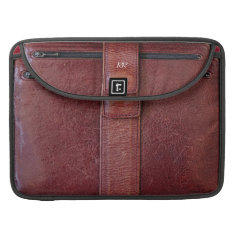 Worn Leather Zip Pocket Effect For Macbook Pro 15