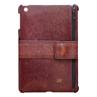 Worn Leather personal organizer effect on Mini iPad Case for business executives and professionals