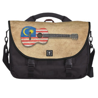 Worn Malaysian Flag Acoustic Guitar Bags For Laptop