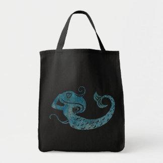 Worn Mermaid Grocery Tote Bag