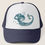 "Worn Mermaid Trucker Hat<br><div class=""desc"">This simple image of a mermaid has a worn texture.</div>"