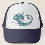 "Worn Mermaid Trucker Hat<br><div class=""desc"">This simple image of a mermaid has a worn texture.</div>"