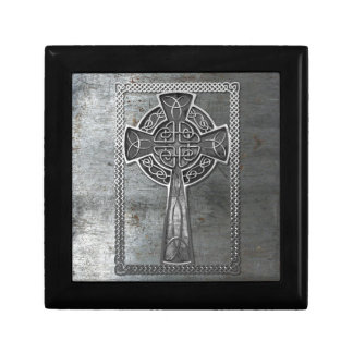 Worn Metal Cross Jewelry Box