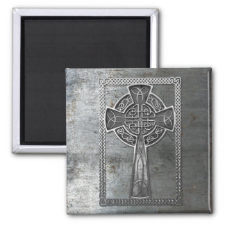 Worn Metal Cross Magnet