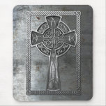 Worn Metal Cross Mouse Pad