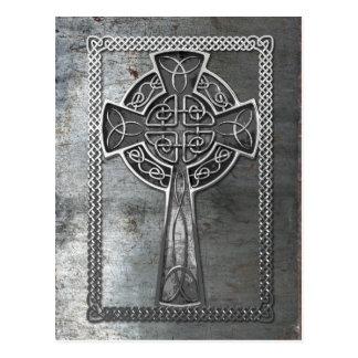 Worn Metal Cross Postcard