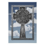 Worn Metal Cross Poster