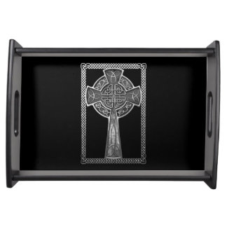 Worn Metal Cross Serving Tray