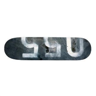 worn metal deck skateboard decks