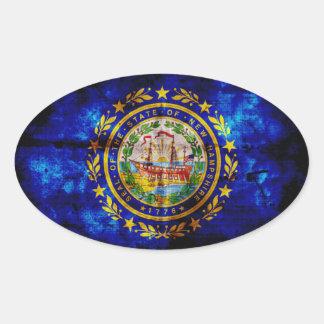 Worn New Hampshire Flag; Stickers