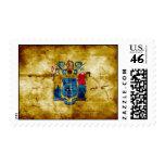 Worn New Jersey Flag; Stamp