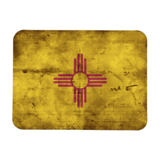 Worn New Mexico Flag; Magnet