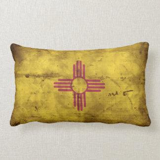 Worn New Mexico Flag; Throw Pillow