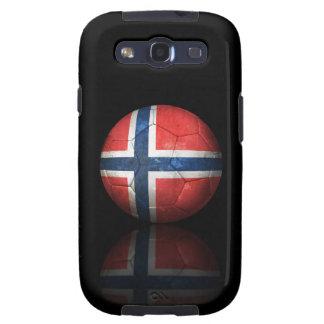 Worn Norwegian Flag Football Soccer Ball Samsung Galaxy S3 Cases