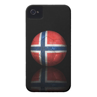 Worn Norwegian Flag Football Soccer Ball Case-Mate iPhone 4 Cases