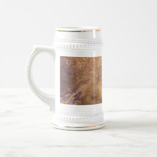 Worn old book cover beer stein