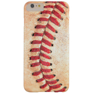 Worn Old Vintage Base Ball Red Stitching Barely There iPhone 6 Plus Case