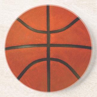 Worn Orange Basketball Sandstone Coaster