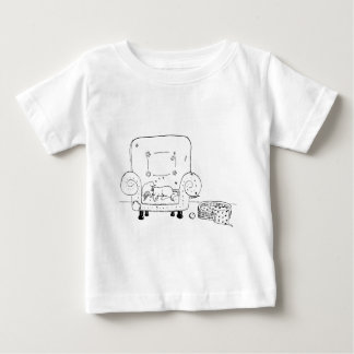 Worn out Jack Russell Puppy Baby T-Shirt