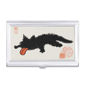 Worn out Kitten Asian style Business Card Case